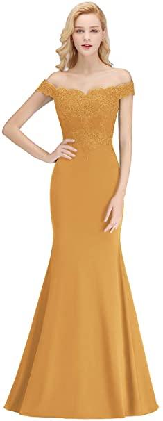 robe soiree jaune